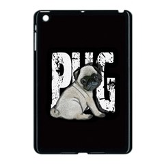 Pug Apple Ipad Mini Case (black) by Valentinaart