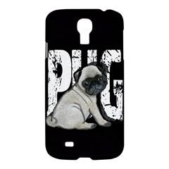 Pug Samsung Galaxy S4 I9500/i9505 Hardshell Case by Valentinaart