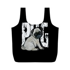 Pug Full Print Recycle Bags (m)  by Valentinaart