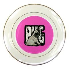 Pug Porcelain Plates by Valentinaart