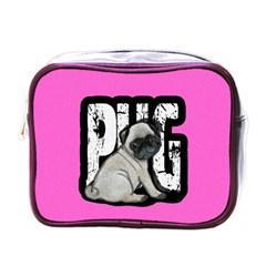 Pug Mini Toiletries Bags by Valentinaart