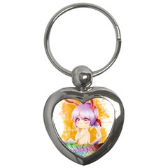 Easter Bunny Girl Key Chains (heart)  by Catifornia