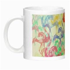 Flamingo Pattern Night Luminous Mugs by Valentinaart