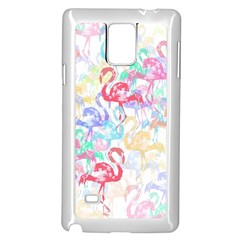 Flamingo Pattern Samsung Galaxy Note 4 Case (white) by Valentinaart