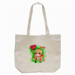 Happy Mother s Day Furry Girl Tote Bag (cream) by Catifornia