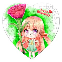 Happy Mother s Day Furry Girl Jigsaw Puzzle (heart) by Catifornia