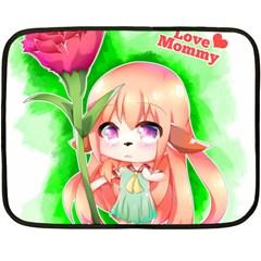 Happy Mother s Day Furry Girl Fleece Blanket (mini) by Catifornia
