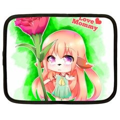 Happy Mother s Day Furry Girl Netbook Case (xxl)  by Catifornia
