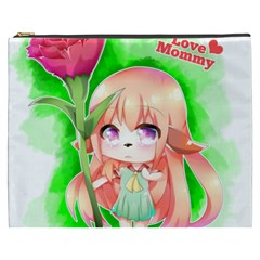 Happy Mother s Day Furry Girl Cosmetic Bag (xxxl)  by Catifornia