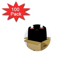 Black Cat In A Box 1  Mini Magnets (100 Pack)  by Catifornia
