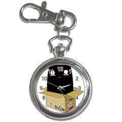 Black Cat In A Box Key Chain Watches by Catifornia