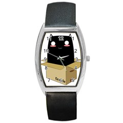 Black Cat In A Box Barrel Style Metal Watch by Catifornia