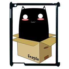 Black Cat In A Box Apple Ipad 2 Case (black) by Catifornia