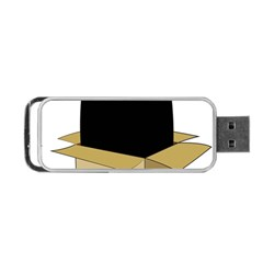 Black Cat In A Box Portable Usb Flash (two Sides) by Catifornia