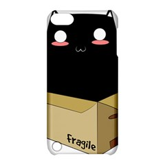 Black Cat In A Box Apple Ipod Touch 5 Hardshell Case With Stand by Catifornia