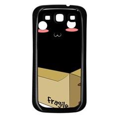 Black Cat In A Box Samsung Galaxy S3 Back Case (black) by Catifornia