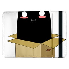 Black Cat In A Box Samsung Galaxy Tab Pro 12 2  Flip Case by Catifornia