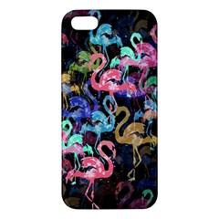 Flamingo Pattern Apple Iphone 5 Premium Hardshell Case by Valentinaart