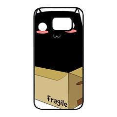 Black Cat in a Box Samsung Galaxy S7 edge Black Seamless Case by Catifornia