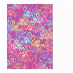 Flamingo Pattern Small Garden Flag (two Sides) by Valentinaart