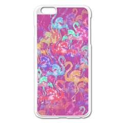 Flamingo Pattern Apple Iphone 6 Plus/6s Plus Enamel White Case by Valentinaart