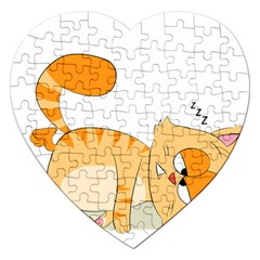 Even Cat Hates Monday Jigsaw Puzzle (heart) by Catifornia