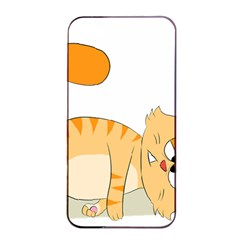 Even Cat Hates Monday Apple Iphone 4/4s Seamless Case (black) by Catifornia