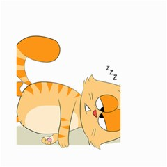 Even Cat Hates Monday Small Garden Flag (two Sides) by Catifornia