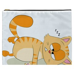 Even Cat Hates Monday Cosmetic Bag (xxxl)  by Catifornia