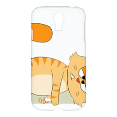 Even Cat Hates Monday Samsung Galaxy S4 I9500/i9505 Hardshell Case by Catifornia