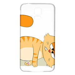 Even Cat Hates Monday Samsung Galaxy S5 Back Case (white) by Catifornia
