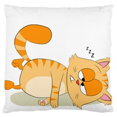 Even Cat Hates Monday Standard Flano Cushion Case (one Side) by Catifornia