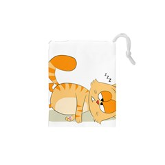 Even Cat Hates Monday Drawstring Pouches (xs)  by Catifornia