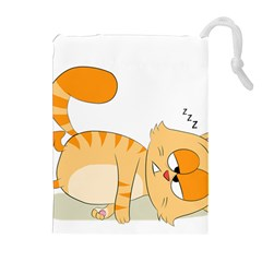 Even Cat Hates Monday Drawstring Pouches (extra Large) by Catifornia