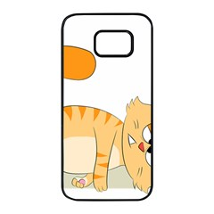 Even Cat Hates Monday Samsung Galaxy S7 edge Black Seamless Case by Catifornia