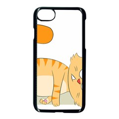 Even Cat Hates Monday Apple Iphone 7 Seamless Case (black) by Catifornia