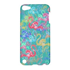 Flamingo Pattern Apple Ipod Touch 5 Hardshell Case by Valentinaart