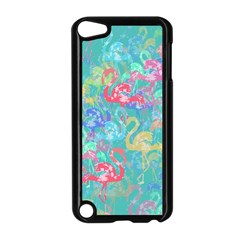 Flamingo Pattern Apple Ipod Touch 5 Case (black) by Valentinaart