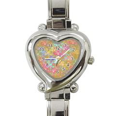 Flamingo Pattern Heart Italian Charm Watch by Valentinaart