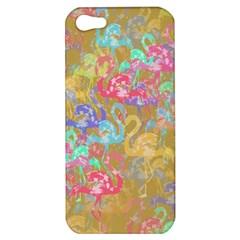 Flamingo Pattern Apple Iphone 5 Hardshell Case by Valentinaart