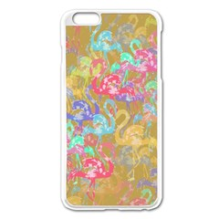 Flamingo Pattern Apple Iphone 6 Plus/6s Plus Enamel White Case by Valentinaart
