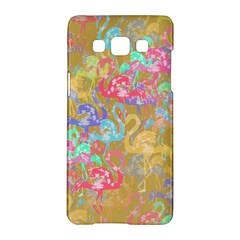 Flamingo Pattern Samsung Galaxy A5 Hardshell Case  by Valentinaart