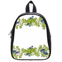 Birthday Card Flowers Daisies Ivy School Bags (small)  by Nexatart