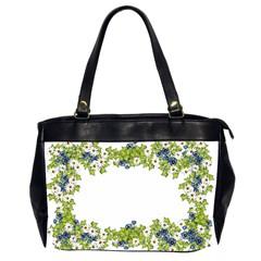 Birthday Card Flowers Daisies Ivy Office Handbags (2 Sides)  by Nexatart