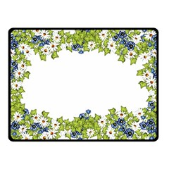 Birthday Card Flowers Daisies Ivy Fleece Blanket (small) by Nexatart