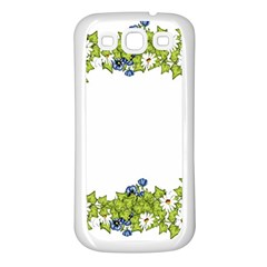 Birthday Card Flowers Daisies Ivy Samsung Galaxy S3 Back Case (white) by Nexatart