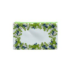 Birthday Card Flowers Daisies Ivy Cosmetic Bag (xs) by Nexatart