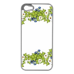 Birthday Card Flowers Daisies Ivy Apple Iphone 5 Case (silver)
