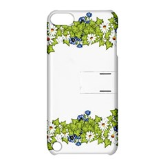 Birthday Card Flowers Daisies Ivy Apple Ipod Touch 5 Hardshell Case With Stand by Nexatart