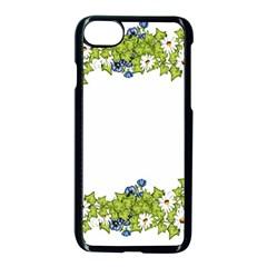 Birthday Card Flowers Daisies Ivy Apple Iphone 7 Seamless Case (black) by Nexatart